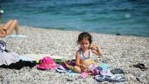 KONYAALTI SAHİLİ - Antalya Sahillerinde Yoğunluk