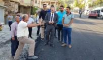 OTURMA EYLEMİ - Hakkari Yeni Mahalle Asfalta Kavuşuyor