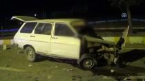 TARAŞÇı - Konya'da Refüje Çarpan Otomobilin Sürücüsü Öldü