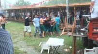 Yağmur Altındaki Güreşlerde Pehlivanlar Arasında Gerginlik