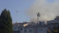 ASKERİ HASTANE - Çanakkale'de Otluk Alanda Çıkan Yangın Evlere Zarar Verdi