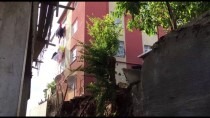 ÇÖKME TEHLİKESİ - İstinat Duvarı Çöken İnşaat Mühürlendi