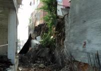 KARTAL BELEDİYESİ - Kartal'da İnşaatın İstinat Duvarı Çöktü