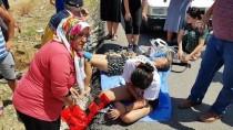 Burdur'da Otomobil Devrildi Açıklaması 5 Yaralı