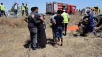 Karaman'da Kamyonet Devrildi Açıklaması 1 Ölü, 3 Yaralı