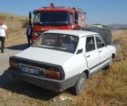 Otomobil Beton Bloğa Çarptı  Açıklaması 5 Yaralı