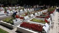 PIYADE - Şehitlikte Hüzünlü Bayram Ziyareti