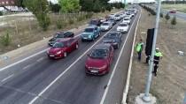 Uşak'ta Drone Yardımıyla Trafik Denetimi