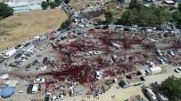 Bursa'da Kurban Kesim Yerleri Havadan Görüntülendi