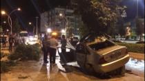 Çorum'da Ağaçlara Çarpan Otomobilin Sürücüsü Öldü