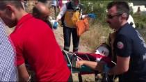 ÇEKMEKÖY BELEDİYESİ - Kaçan Boğanın Arkasından Kanala Atladı