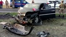 NEVRUZ - Kars'ta İki Otomobil Çarpıştı Açıklaması 10 Yaralı