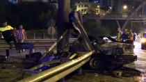 Kaza Sonrası Yanan Otomobilin Sürücüsü Öldü