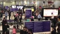 BEKIR KAYA - Atatürk Havalimanı'nda bayram dönüşü yoğunluğu