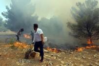 KAZMA KÜREK - Göbeklitepe Ormanı'nda Yangın Devam Ediyor