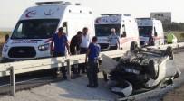Aksaray'da Otomobil Takla Attı Açıklaması 5'İ Çocuk 9 Yaralı