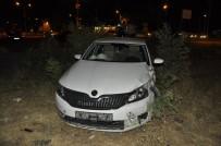 Kaza Sonrası Tarlaya Uçan Otomobilde 1'İ Ağır 4 Kişi Yaralandı