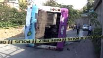 MASLAK - Sarıyer'de halk otobüsü devrildi