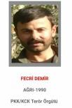 Ağrı'da 'Gri' Listede Yer Alan Terörist Öldürüldü