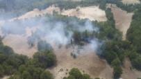 ORMAN İŞÇİSİ - Ormanlık Alandaki Yangın Havadan Da Yapılan Müdahaleyle Söndürüldü