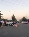 SAKARYA CADDESİ - Otomobil Takla Attı Açıklaması 1 Yaralı