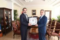ADIYAMAN VALİLİĞİ - Tayini Çıkan İdare Mahkemesi Başkanı Alper Ergüder'den Vali Kalkancı'ya Veda Ziyareti