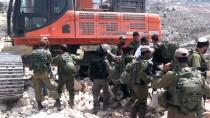 RAMALLAH - İsrail Güçleri Ramallah'ta Filistinlilere Müdahale Etti