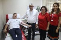 TANJU ÇOLAK - Tanju Çolak'tan Kızılay'a Kan Bağışı