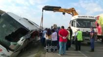 ALI YıLDıZ - GÜNCELLEME - Amasya'da Yolcu Otobüsü Devrildi Açıklaması 1 Ölü, 14 Yaralı