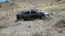 Kars'ta Otomobil Devrildi Açıklaması 5 Yaralı