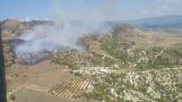 Denizli'de Orman Vasfını Yitirmiş Arazide Çıkan Ot Yangını