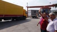 GIDA YARDIMI - Mersin'den Suriye'ye 4 Yardım Tırı Gönderildi
