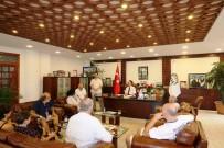 SANAT MÜZİĞİ - Resim Çalıştayı Ekibinden Başkan Türkmen'e Ziyaret