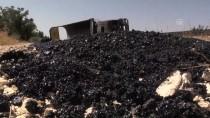 MUSTAFA COŞKUN - Gaziantep'te Asfalt Malzemesi Yüklü Tır Devrildi Açıklaması 1 Yaralı