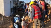 TOPRAK KAYMASI - İnşaat Alanında Göçük Açıklaması 2 Yaralı