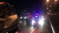 GÜLBEYAZ - İzmir'de Tır Otomobile Çarptı Açıklaması 1 Ölü, 1 Yaralı