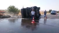 MUSTAFA COŞKUN - Kaza Sonrası Alev Alan Asfalt Kamyonundaki Yangın Söndürüldü