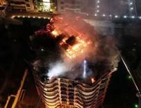 ÇUKURAMBAR - Ankara'da korkutan yangın: Bina boşaltıldı