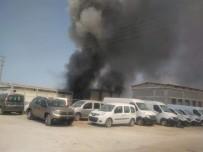 Denizli'de Mobilya Atölyesinde Yangın