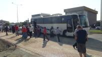 YÜKSEK GERİLİM - Servis Otobüsü Yüksek Gerilim Kablosuna Çarptı