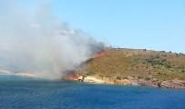 GÖKHAN GÖRGÜLÜARSLAN - Ayvalık Maden Adasında Orman Yangını Kontrol Altına Alındı