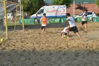 SÜTLÜCE - Eskişehir'de Plaj Futbolu Turnuvası Başladı