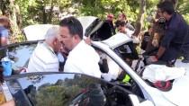 SAĞLIK ÇALIŞANI - Sağlık Personeli Kazada Yaralandı