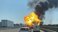 YAKIT TANKERİ - Havalimanı Yakınındaki Otoyolda Büyük Patlama