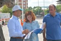 Başkan Köksoy, Kongre Caddesi'nde Sıcak Asfalt Yol Çalışmalarını İnceledi