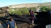 Elazığ'da Ev Ve Odunluk Yangını
