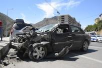 Gümüşhane'de Zincirleme Trafik Kazası Açıklaması 4 Yaralı