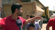HAFRİYAT KAMYONU - Kamyon, 4 Araç Ve İş Yerinin Duvarına Çarptı Açıklaması 1 Yaralı