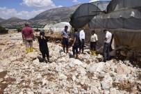 SALUR - Özen, Sel Felaketinin Yaşandığı  Elmalı'da İncelemelerde Bulundu