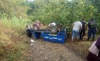 Alaplı'da Tarım Aracı Devrildi Açıklaması 3 Yaralı